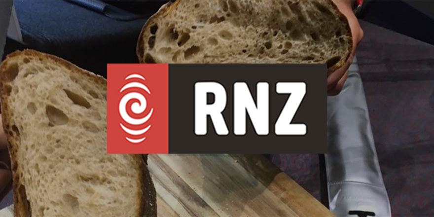 Sliced Country Sourdough Bread in the Radio New Zealand Studio